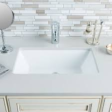 hahn ceramic um rectangular bowl undermount white bathroom sink