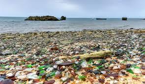 glass beach fort bragg california covered in sea glass