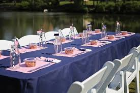 Nautical Table Settings Pink And Navy Nautical Collection A Preppy 1st Birthday For Eliza