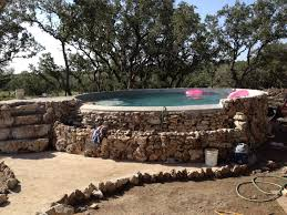 Diy Pool Waterfall Stock Pond Pool With Negative Edge And Waterfall Landscape