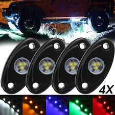 Camper Lights 4pcs Led Deck Bottom Lights Atmosphere Decoration Lamps Offroad Car Truck Boat Camper Suv 6000k Waterproof