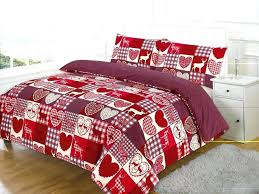 cotton duvet covers king size details about quilt cover love flower cotton rich red rose duvet