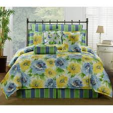 delectably yours com gia blue yellow fl bedding collection