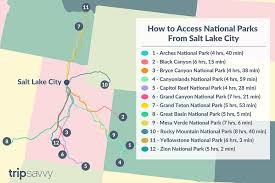 Colorado Mileage Chart Driving Distance From Salt Lake City To National Parks