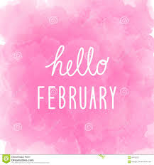 february background. Interesting February Hello February Greeting On Abstract Pink Watercolor Background For Background