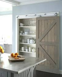 sensational sliding barn door kitchen cabinets pictures design