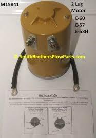 aftermarket motor for meyer e and e e h pumps and eh meyer e 60 and e 57 replacement 2 lug motor also fits e 68 e 78 e 88 and v 66
