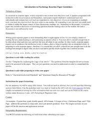 Reaction Paper Format Citation Plagiarism