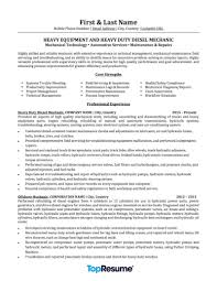Top Resume Sample Mechanic Resume Sample Professional Resume Examples TopResume 13