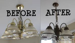 country chic lighting. Interesting Lighting My Kitchen Light Fixture Needed To Get Out Of The 80s Yu0027all So I Broke  Some Spray Paint On It Over Long Weekend Letu0027s Started With Country Chic Lighting H