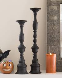 Silver Candle Chart Metal Candlesticks Thin Cast Candle Stick Box Tall Black