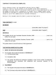 Simple Service Contract Simple Service Contract Template Free Download