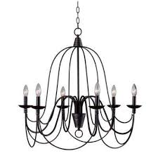 pannier 6 light oil rubbed bronze with silver highlights chandelier
