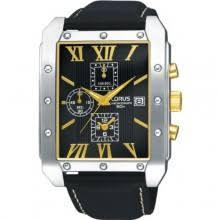 mens designer watches mens designer watches uk mens lorus gents chronograph black leather strap watch rf869cx9