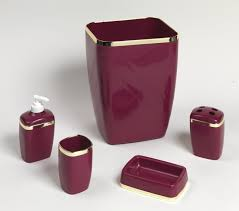 modern bathroom accessories sets. Bathroom:Modern Bathroom Bath Accessories Glamorous Red Burgundy And Gold Set Coloured Black Modern Sets
