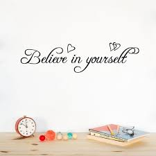 large size believe in yourself inspirational quotes vinyl wall decals removeable wall sticker for on large vinyl wall decal quotes with large size believe in yourself inspirational quotes vinyl wall