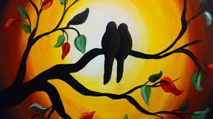 love birds love painting sketch birds