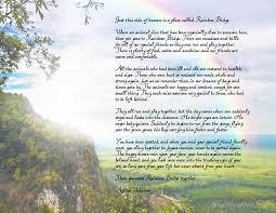 rainbow bridge free printable poem