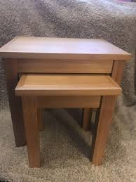 oscar nest of 2 tables oak effect