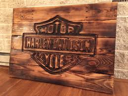 harley davidson sign made from pallets reclaimed wood scheme of harley davidson wall art metal