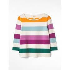 womens marigold stripe jumper in orange stripe multicolour
