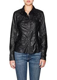 blanknyc women s faux leather shirt