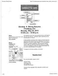 develop a strong resume workshop nassau county uja federation image