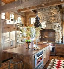 Wooden Ceiling Rustic Country Kitchen Backsplash Ideas Old Red
