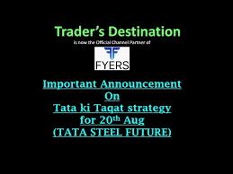 Tata Steel Candlestick Chart Tata Steel Magic Candle For 20th Aug 2018