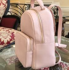 Kate Spade Light Pink Backpack Kate Spade Larchmont Ave Mini Nicole Handbag Pebbled Baby Pink Leather Backpack 56 Off Retail