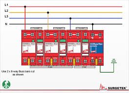 surgetek useful information diagram 5 installation of class 1 and class 2 for 3 phase