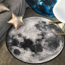 details about creative round area rug moon earth 3d carpet floor mat home decorative carpet