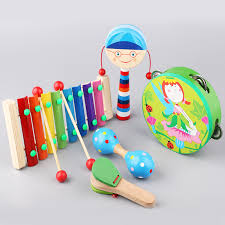 wooden cortical rattle baby tambourine toys newborn baby toys 0 1 3 6 12 months old