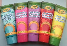 5 crayola bathtub fingerpaint soap red pink blue green violet 3 fl oz fun 692237096217