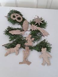 Antiker Christbaumschmuck Aus Dresdner Pappeantik9 Aufhänger Raritätmerry Christmas Jugendstil 1920brocantevintage