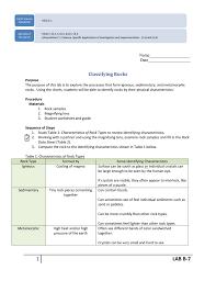 B 7 Classifying Rocks Calaged Applications Menu