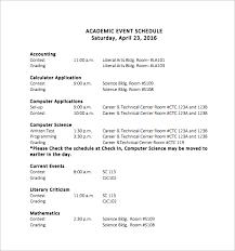 Program Of Events Sample Academic Event Schedule Template Schedule Of Events Template