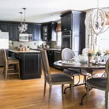 Painted Black Kitchen Cabinets Kitchen Black Kitchen Cabinets With Incredible How To Paint