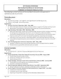 Summary Qualifications Resume Summary Of Qualifications Resume