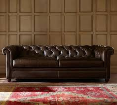 leather couches. Perfect Leather Chesterfield Leather Sofa On Couches Pottery Barn