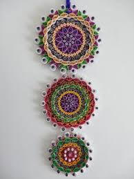 purple themed fl paper quilled wall hanging decoration