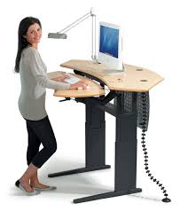 dual surface flexo standing desk with motorized or crank adjustment