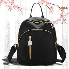 uisn mall korean black backpack waterproof bag 705