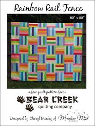 1172 best Quilting: Patterns and Tutorials images on Pinterest ... & Rainbow Rail Fence Free Quilt Pattern. Quilts OnlineQuilting  TutorialsQuilting ... Adamdwight.com