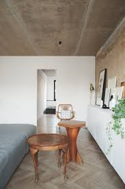 The decor and architecture of these homes are nice but the concrete ceiling  spoils everything.