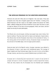 african american social science baseline essay dr john henrik clark   60