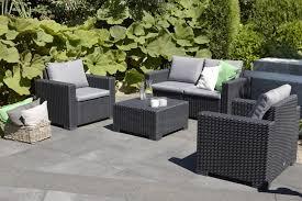 allibert california lounge set graphite two seater