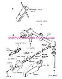 two or three handle bath tub shower faucet repair