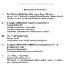 For my research poster I need to include an Introduction  Literature Review