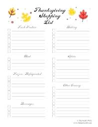 Thanksgiving Grocery List Template Printable Grocery Lists Template Groceries List Lovely Free